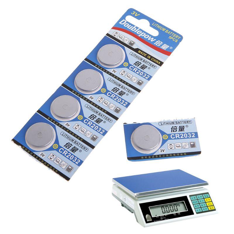 5 шт., литиевая батарея 3 в ECR2032 CR2032 5004LC KCR2032