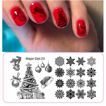 Get more info on the Nail Stamping Plate Rectangle Round Christmas Theme 3D Snowflake Elk Santa DIY Nail Art Image Plate Stencil For Nails