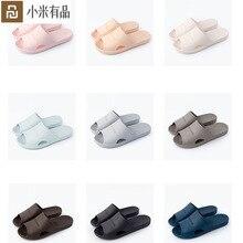 Nouveau Xiaomi Mijia Youpin maison pantoufles salle de bain pantoufles doux tongs dames homme sandales chaussures décontractées Slip pour hommes femmes