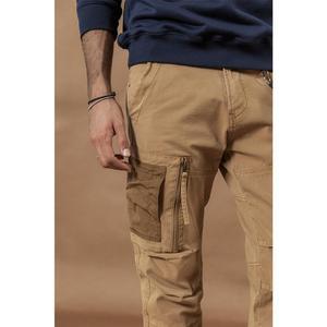 Image 2 - SIMWOOD 2020 Multi Pocket Combat Cargo Pants patchwork contrast color hip hop streetwear trousers plus size  tactical pants