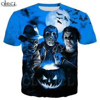 Halloween Murderers Horror T Shirts 3D Print Movies Characters Shirt Men Women Short Sleeve Sweatshirts Harajuku Tops
