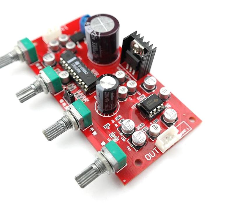 Placa de tom lm1036 com pré-amplificador única fonte de alimentação