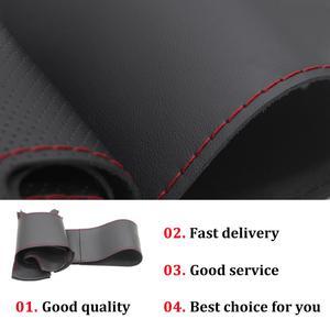 Image 5 - Capa de volante do carro de couro sintético do plutônio preto costurado à mão para nissan almera (n16) x trail (t30) terrano 2 almera tino