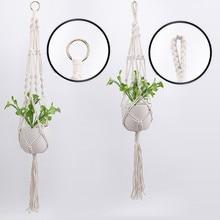 Hot Sales Handmade Macrame Plant Hanger Flower /pot Hanger For Wall Decoration Courtyard Garden