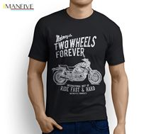 цена на 100% Cotton Print Mens Summer O-NeckThe Original Japan Motorbike V-MAX 1200 Inspired Motorcycle Fan Art T-Shirt