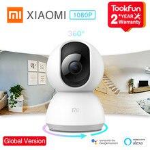 Versão global xiaomi mi câmera ip de segurança em casa 360 ° 1080p fhd visão noturna detecção de movimento wifi voz talkback alerta anormal