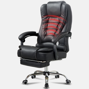 Silla de ordenador, silla de jefe de oficina en casa, silla de elevación reclinable, silla de masaje, reposapiés, silla de ocio
