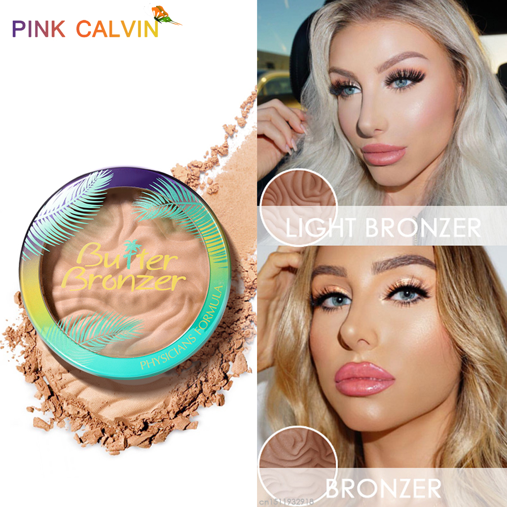 New Butter Bronzer Powder Makeup Face Powder Highlighter Contour Palette Shine Brown Face Blusher Cosmetics For Face