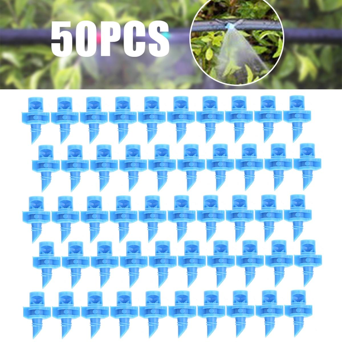 50PCS/pack 90 Degree Refraction Misting Nozzle Garden Irrigation Sprinkler For Plant Spray Nozzle Mist Sprayer Irrigation