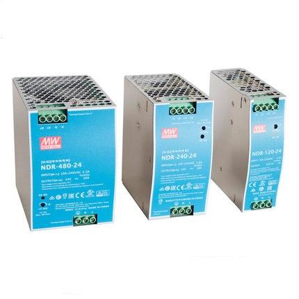 MEAN WELL NDR-75 120 240 12V 24V 48V meanwell NDR-75 -120 -240 12 24 48 V Single Output Industrial DIN Rail