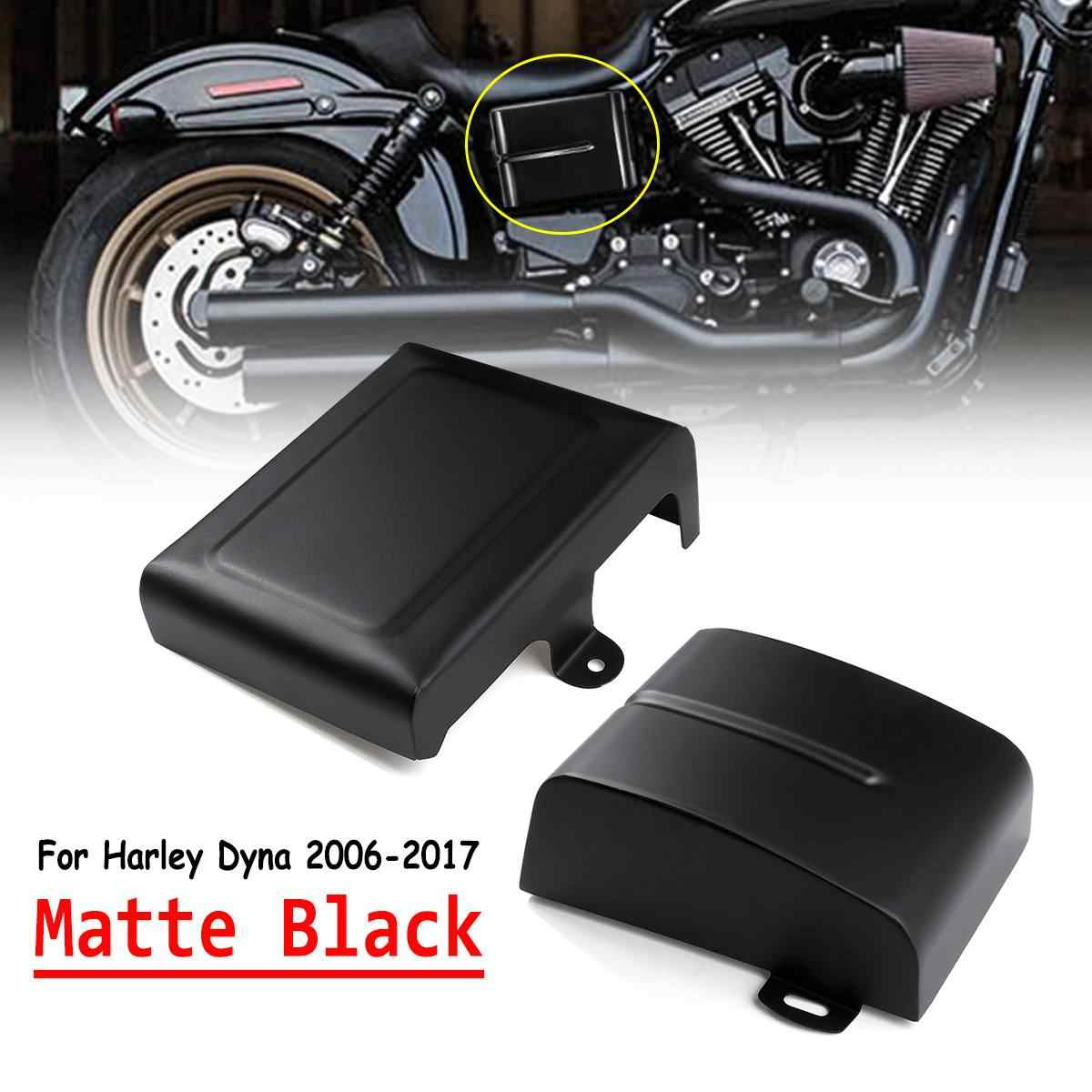 Left Side Battery Cover Fit For Harley Dyna Fat Street Bob Low
