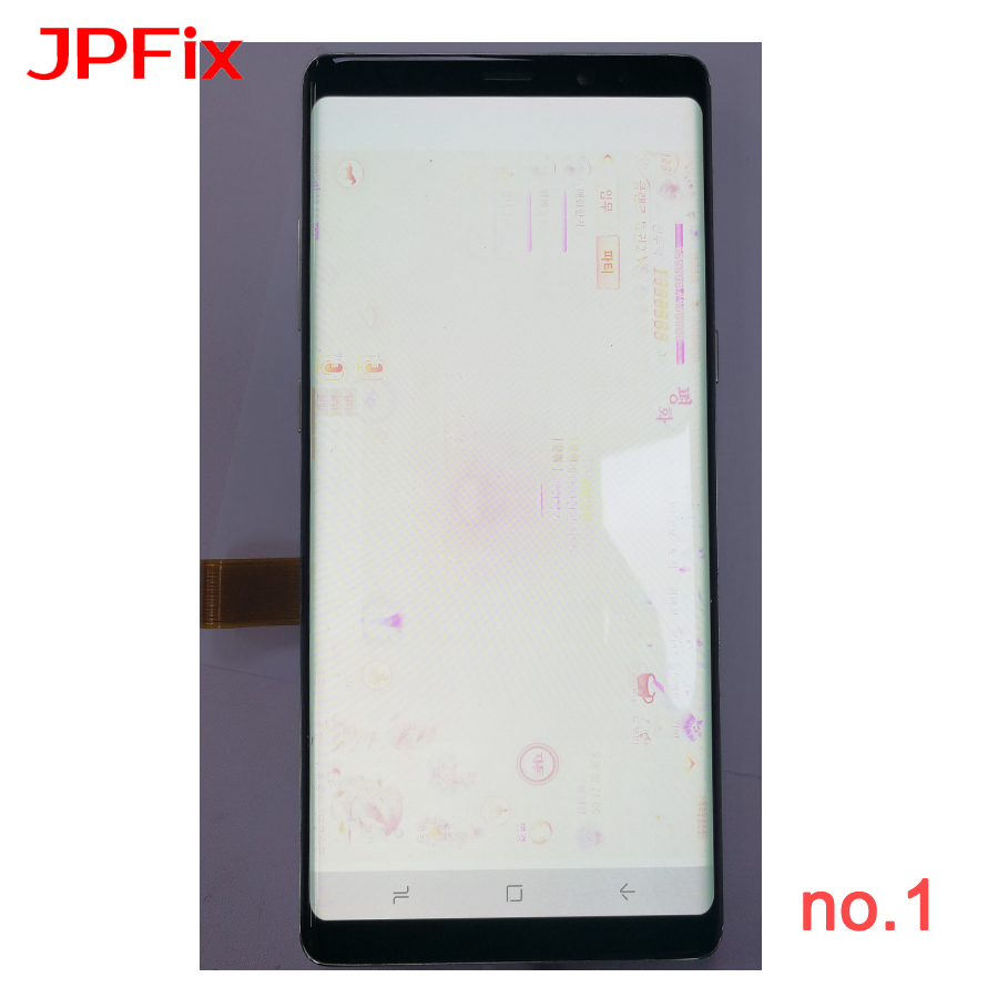 JPFix For Samsung Note8 N950 LCD Touch Display Glass Digitizer Assembly Complete Pantalla Replacement Amoled Leakage Dots Shadow