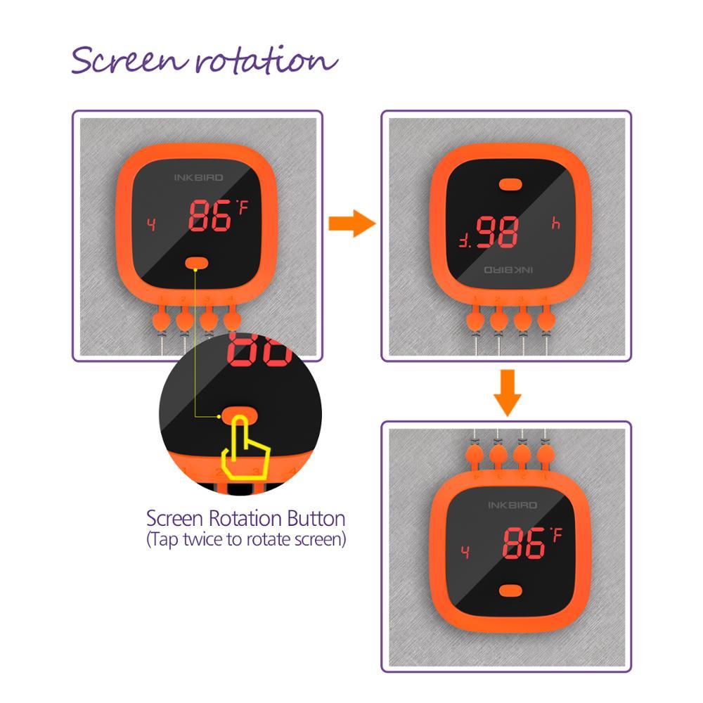 Inkbird IBT 4XC Водонепроницаемый Bluetooth беспроводной дистанционный термометр для барбекю 4 зонда Цифровой термометр для приготовления пищи и мяса - 5