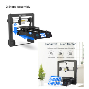 Image 3 - Tanie ANYCUBIC 3D drukarki I3 Mega przemysłowe kraty platformy wszystkie metalowe Plus rozmiar Impresora pulpit 3d DIY Kit imprimante