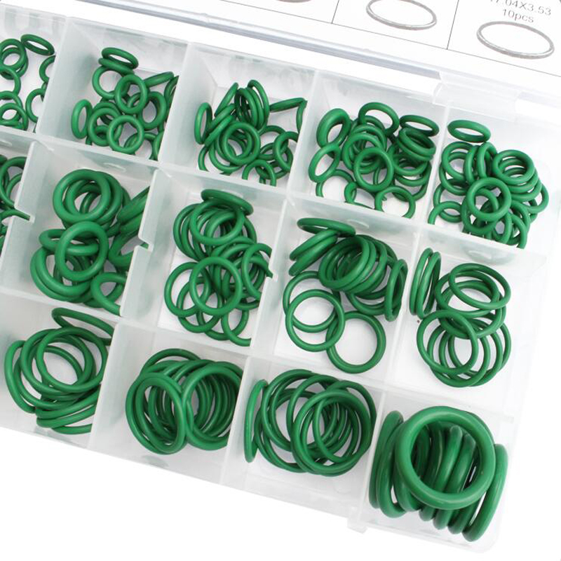 Roller Auto Pump Electric Appliance Bearing Window 270pcs Car O Rings 18 Sizes Assortment Car Truck Replacement Air Conditioning Green O-Ring Tools Kits for Door