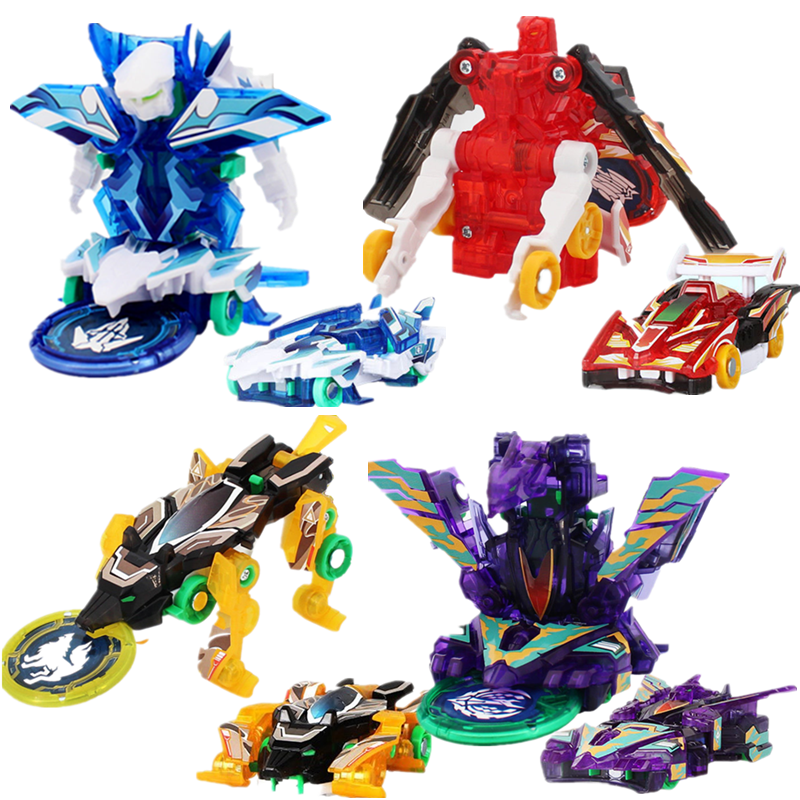 Screechers Wild Burst Speed Deformation Car Action Figures  Multiple Chip Capture Wafer 360° Flips Transformation Car Kids Toys