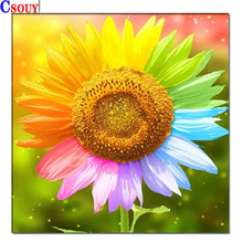 Flowers Diy Diamond Mosaic Diamond Sunflower Painting Drawing Full Square Round Drill Diamond Embroidery Cross Stitch Home Decor sunflower diamond paiting flower diamond painting full cross stitch diamond painting full drill round