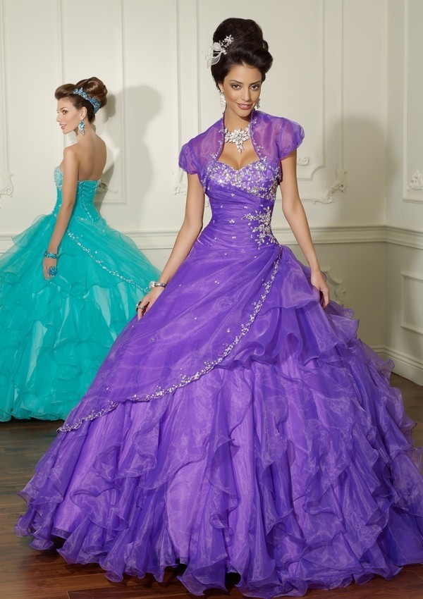 Sweetheart Quinceanera Bridal Ball Gown Prom With Jacket 2018 Organza Ruffles Vestido De Noiva Mother Of The Bride Dresses