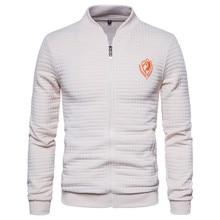 Mens jackets and coats Male Autumn New Fashion Zipper bomber jacket Men Wind Breaker Casual Cotton Embroidery Jacket Coat