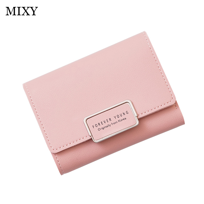 High Quality Wallet Women Leather Female Slim Wallet Hasp Clutch Short Wallet Fashion Women Purse Card Holder 2019 Ladies Purse