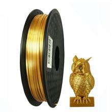 Silk Pla 3D Printer Filament 1.75mm 0.5kg Shine Silky Gold 500g 3d Pen Printing Filament Rich Luster Metal Metallic Material