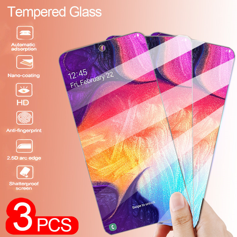 3Pcs 9H Tempered Glass For Samsung Galaxy A10 A20 A30 A50 Screen Protector For Samsung A10s A20s A30s A50s A507f Protective Film