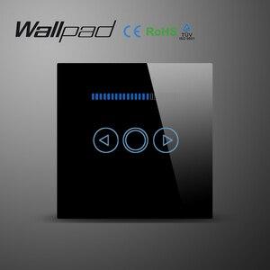 Image 2 - Wallpad reino unido padrão da ue painel de vidro novo 220 v controlador ajustável led toque dimmer interruptor de parede para pode ser escurecido lâmpada