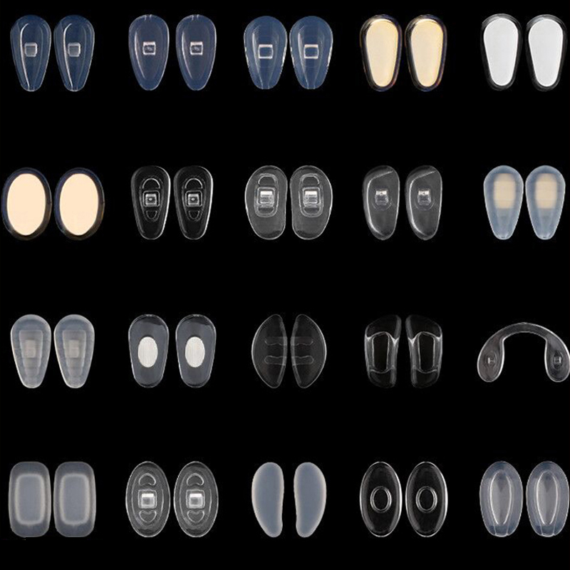Lunettes ovales antidérapantes à vis | Pack de 3 4 5 paires de verres Sunglass souples transparents, coussinets pour le nez ovales, accessoires, pièces + cadeaux | AliExpress