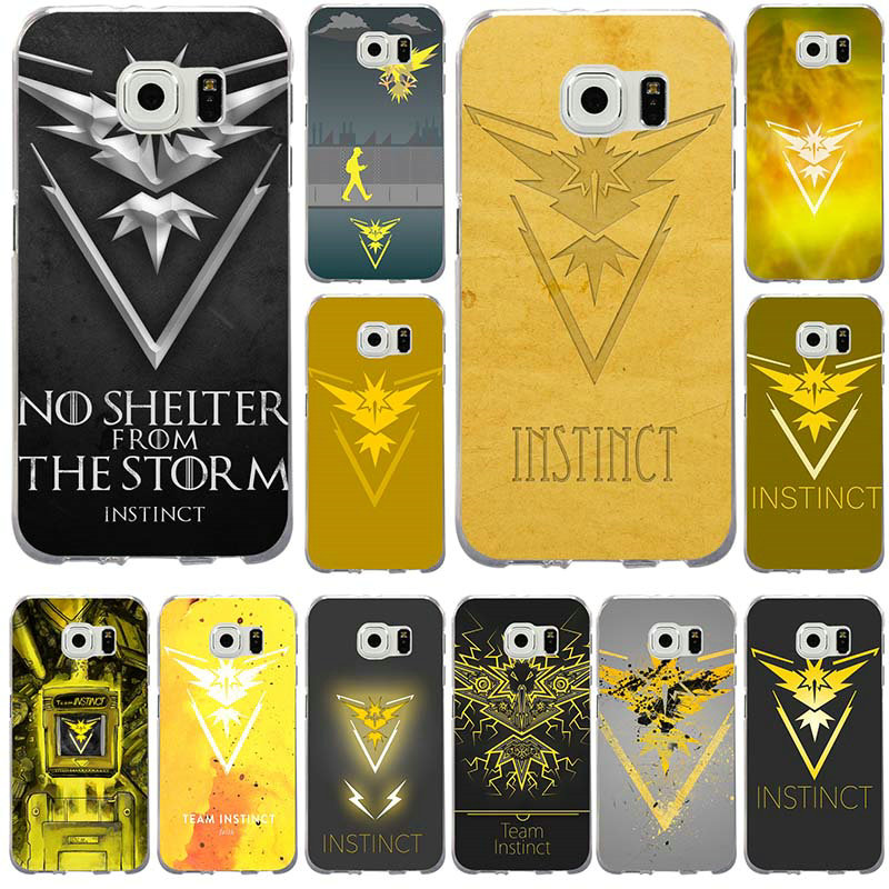 Soft Silicone TPU Phone Cases for Samsung Galaxy Note 2 3 4 5 8 S2 S3 S4 S5 Mini S6 S7 S8 S9 Edge Plus Fashion Pokemons Go Team image
