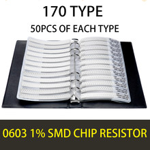 0603 1% 0R OHM ~10M YAGEO SMD Resistor Sample Book Tolerance 170valuesx50pcs=8500pcs