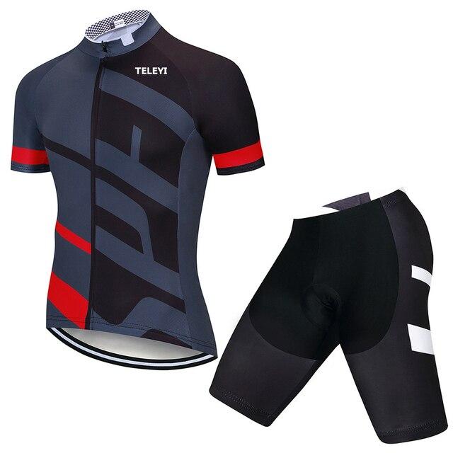 2020 verão conjunto camisa de ciclismo respirável mtb bicicleta ciclismo roupas de montanha roupas maillot ropa ciclismo 20d gel dos homens 4