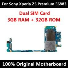 Placa mãe original para sony xperia z5 premium e6883 32 gb duplo sim fábrica desbloqueado mainboard e6653 e6683 e6883 e6833 e6853