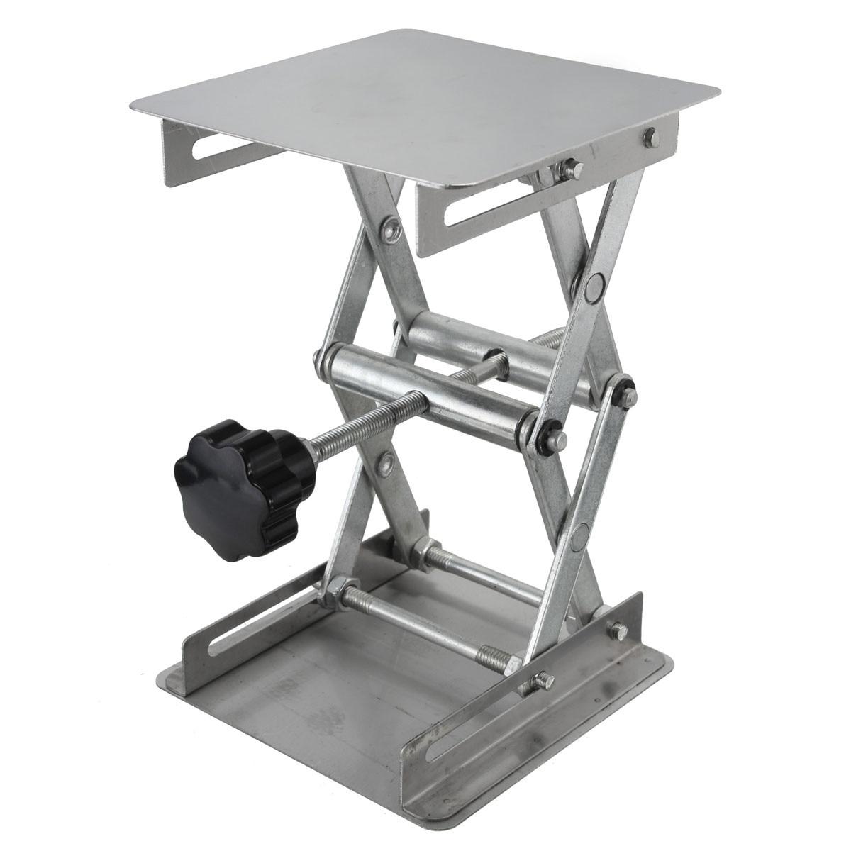 Adjustable Stainless Steel Laboratory Lab-Lift Lifting Platforms Jack Scissor Lift Platform / Foldable Lifting Table Pad