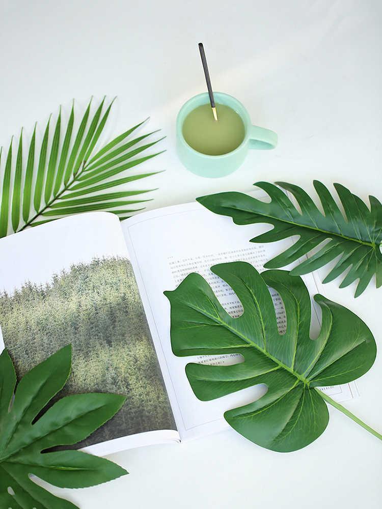 20 ~ 80Cm Simulatie Leaf Fake Plant Bladeren Voor Versiering Fotografie Achtergrond Accessoires Studio Foto Schieten Achtergronden Props