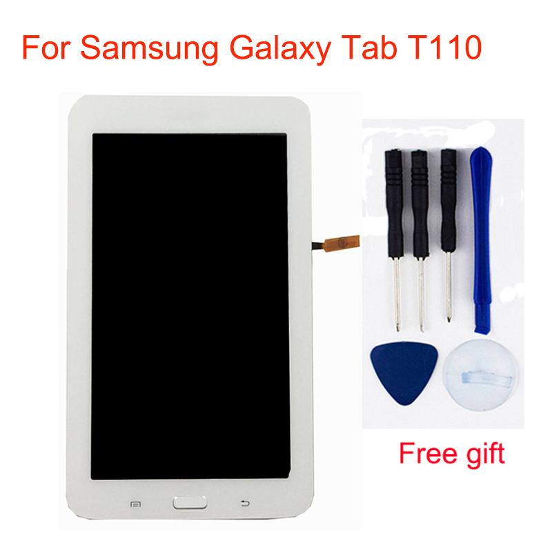 For Samsung Galaxy Tab 3 Lite 7.0 T110 LCD SM T110 Touch Screen Digitizer + LCD Display Panel Monitor Assembly with Frame