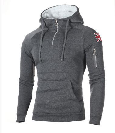 2019 Autumn And Winter Sweater Men's Fashion Hoodie Plus Size Warm Fleece Jacket Pullover Men's Hoodie