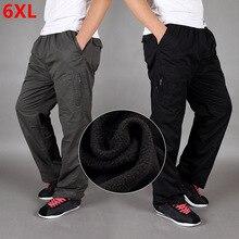Hiver plus velours épaississement pantalon coton ample grande taille droit multi poche outillage pantalon