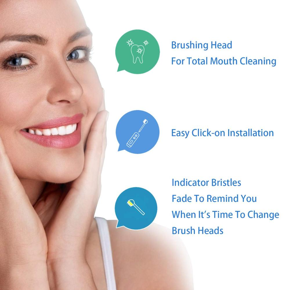 16Pcs Toothbrush Heads for Oral B Electric Toothbrush 4 Model for Oral B Electric Advance/Pro Health/Triumph/3D Excel/Vitality 6
