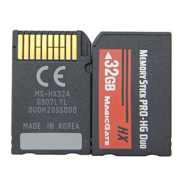 For Sony PSP 1000/2000/3000 Memory Card 8GB 16GB 32GB Memory Stick HG Pro Duo Full Real Capacity HX Game card Game Pre-installed 2