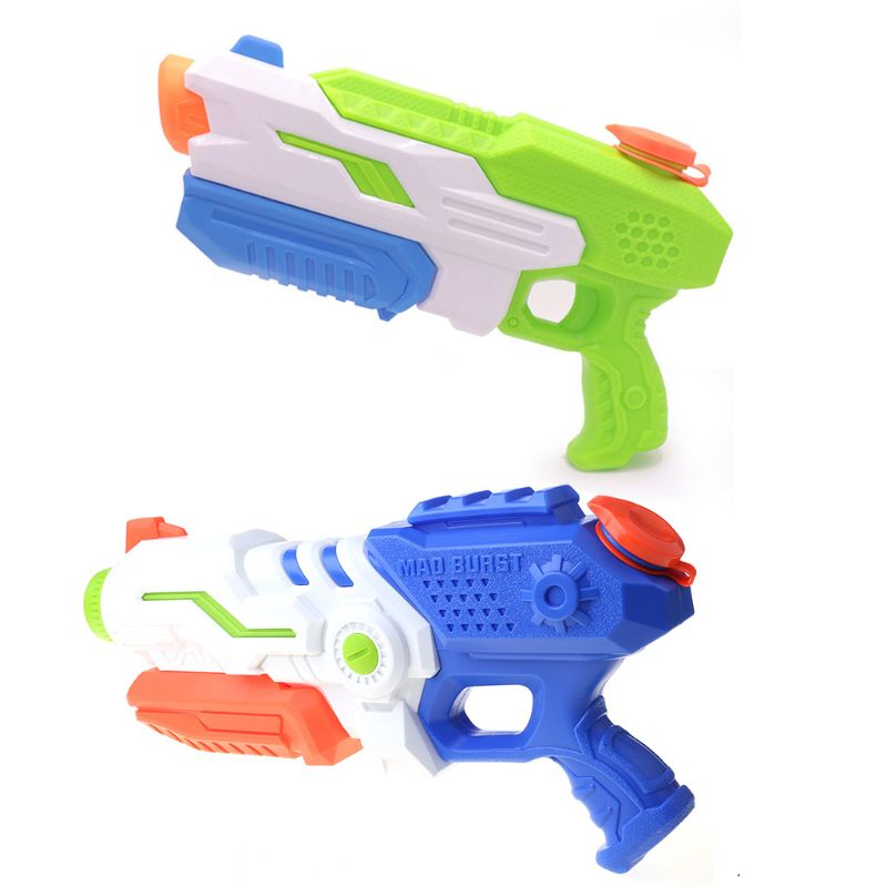 2Pcs Large Capacity Water Gun Long Range Super Soaker Squirt Gun Kids Bath Beach Toy Children Toy Sports