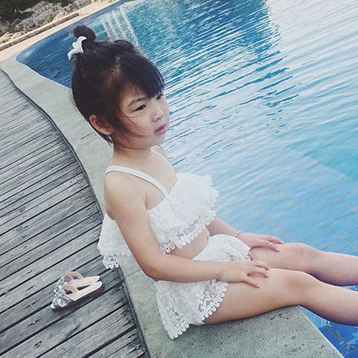 KID'S Swimwear 2018 Summer New Style Baby Girls South Korea Split Type Cute CHILDREN'S Bikini Hair
