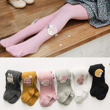 Infant Baby Girl Stockings Newborn Knitted Cotton Warm Lovely Cartoon Children Pantyhose Hot 6Colors