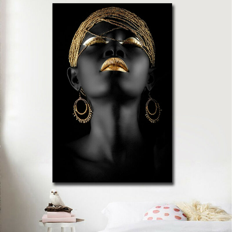 HOT Modern Cubism Abstract HD Canvas Painting African Women Poster Prints Home Wall Art Decor Picture Gift Unframed Decorative