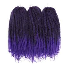 18 inch Pure Color Marley Braids Hair Crochet Afro Kinky Syn
