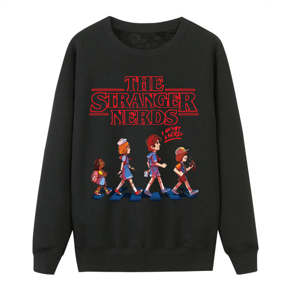 The Stranger Nerds Women Autumn Hoodies 2019 New Brand Pullover Streetwear Clothes Female Sweatshirt Funny Crewneck Pullovers