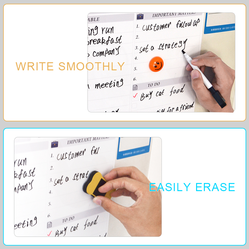 Best Deal╓YIBAI Dry-Erase-Board Magnet Magnetic-Daily-Planner Office Fridge Kitchen Home Soft A3Æ