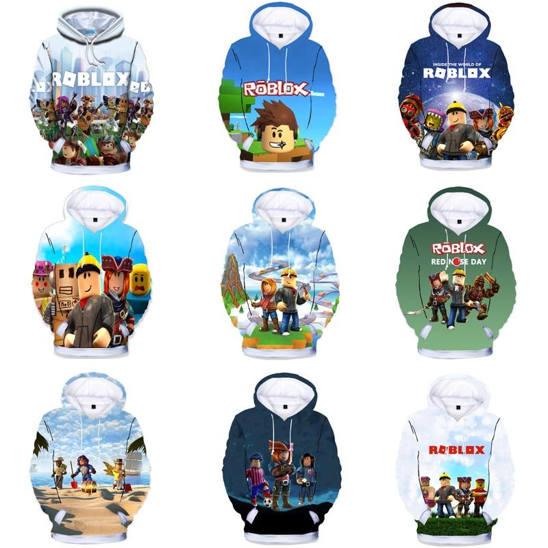 Новинка 2021 года; Robloxing hoodies футболка для мальчиков детские футболки с длинными рукавами хлопковые осенние топы для девочек; Детская одежда; О...