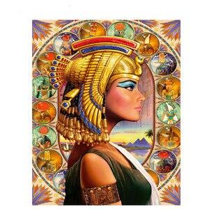Алмазная живопись 5D DIY, египетская богиня, алмазная вышивка Клеопатра, домашний декор, Алмазная мозаика, настенная мозаика в подарок G424