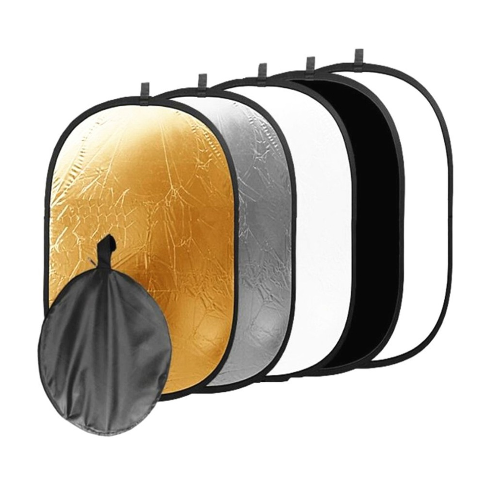 24''x35'' 60x90cm 5 In 1 Multi Disc Photography Studio Photo Oval Collapsible Light Reflector Handhold Portable Photo Disc