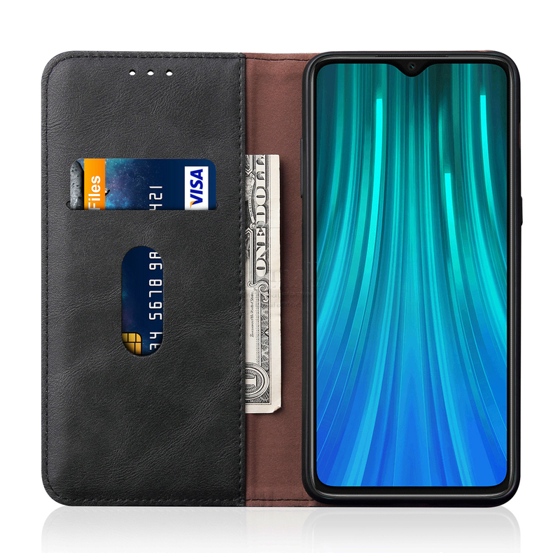 H4ecb645e4fd14ea9858c05a29c7b525a3 Luxury Retro Slim Leather Flip Cover For Xiaomi Redmi Note 8 / 8T / 8 Pro Case Wallet Card Stand Magnetic Book Cover Phone Case